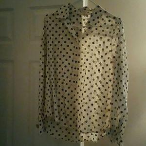 Jcrew dotted button down shirt